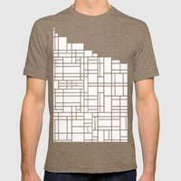 Map Black Boarder Mens Fitted Tee Tri-Coffee SMALL