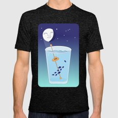 Waning Waterglass Moon - Submarine Mens Fitted Tee Tri-Black SMALL