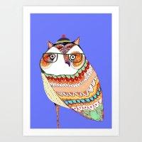 Owl, Owl Art, Owl Illust… Art Print