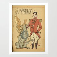 Roderick, the great griffin tamer Art Print