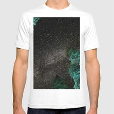 Lake Tahoe Milky Way SMALL Mens Fitted Tee White