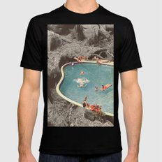 is this the place that they call paradise? SMALL Mens Fitted Tee Black