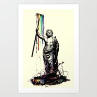 God Of Graffiti Art Print