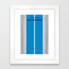 No407 My NEED FOR SPEED minimal movie poster Framed Art Print