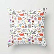 Harry Potter pattern Throw Pillow