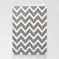 Gray & Ivory Chevron Stationery Cards