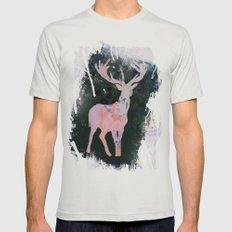 Rudolph Mens Fitted Tee Silver SMALL