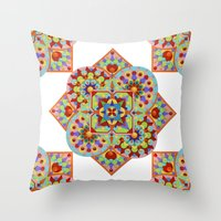 Chartres Mandala Throw Pillow