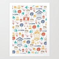 Cuckoo Pattern Art Print