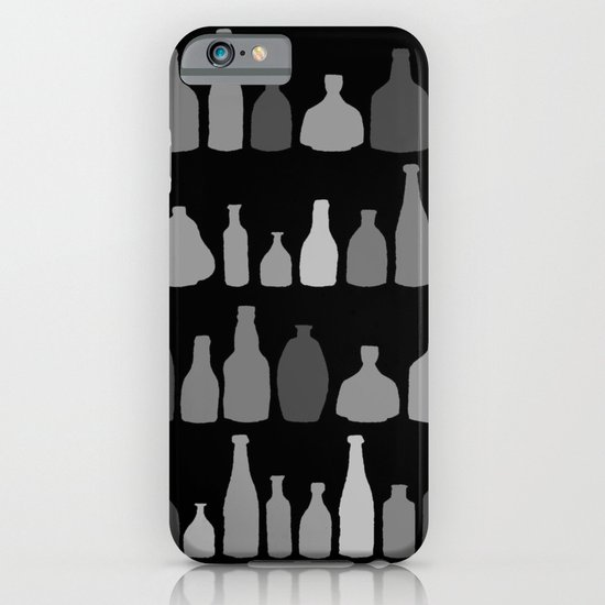 Bottles Black and White on Black iPhone & iPod Case