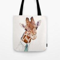 Mr Giraffe Tote Bag