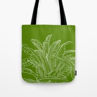 Palm Beach - Green And W… Tote Bag