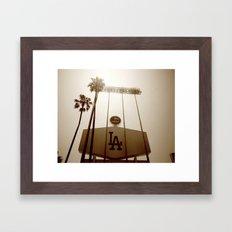Los Angeles Dodgers  Framed Art Print