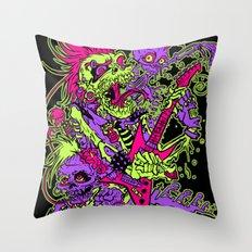 Zombies Rock! Throw Pillow