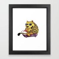 Skating Cheetah Framed Art Print