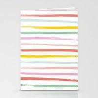 Fruit Stripes Stationery Cards