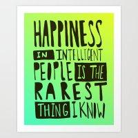 Hemingway: Happiness Art Print