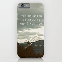 iPhone & iPod Case featuring The Mountain is Calling by Leah Flores