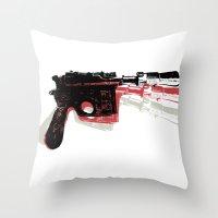 Blaster (Right) Throw Pillow