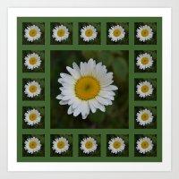 Daisy Collage Art Print