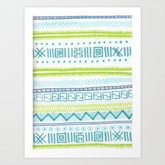 zig zagg Art Print