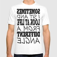 Different Angle Mens Fitted Tee White SMALL