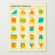 GEOMETRIC FORMULAS Canvas Print