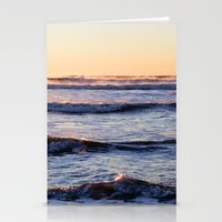 winter ocean Stationery Cards