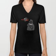 Unisex V-Neck featuring Space Toy by Tony Vazquez