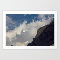 Rock Clouds Sky Art Print