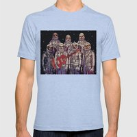 Astronauts With Guitar Mens Fitted Tee Athletic Blue SMALL