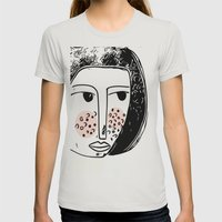 Pimply Monsters - 1 Womens Fitted Tee Silver SMALL