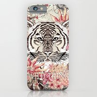 tiger iPhone & iPod Cases featuring TIGER by Monika Strigel