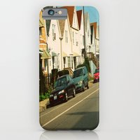 iPhone & iPod Case featuring Pretty Houses In a Row ~ Chicago by helene smith photography