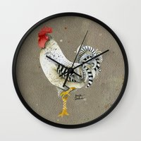 Rooster Wallace Wall Clock