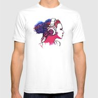 Into The Music Mens Fitted Tee White SMALL