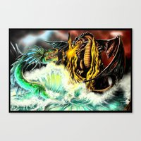 Land vs. Sea Canvas Print