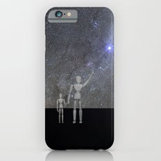 No. She did not leave us iPhone 6 Slim Case