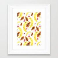 tropical juice (white) Framed Art Print