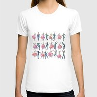 Sock Hop Womens Fitted Tee White SMALL
