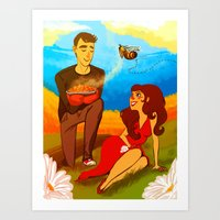 I'm pushing up my daisies for you Art Print