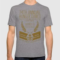 74th Annual Hunger Games… Mens Fitted Tee Athletic Grey SMALL