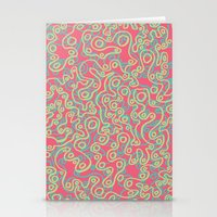 Neon Bubbles Stationery Cards