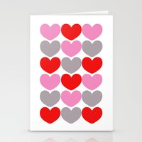 Valentine Pattern Stationery Cards