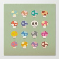 How to Tell Poison Mushrooms Canvas Print