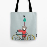 Biker Bear Tote Bag