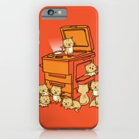 orange iPhone & iPod Cases featuring The Original Copycat by Picomodi