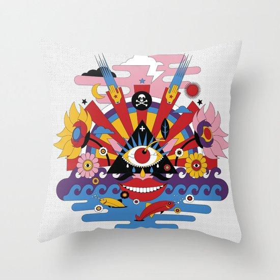 J-pop Throw Pillow