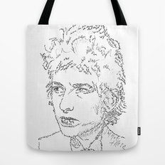 Bob Dylan WordsPortrait  Tote Bag