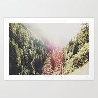 Mountain Flare Art Print